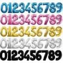 Фольгированные цифры и буквы