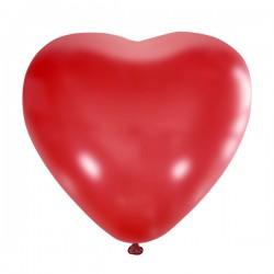 """М Сердца 15""""/38см Пастель RED 25шт"""