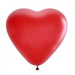 """М Сердца 15""""/38см Декоратор (шелк) CHERRY RED  1шт"""